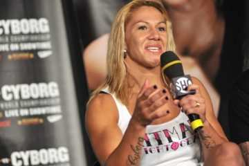 "Cris ""Cyborg"" pictured at the Gina ""Conviction"" Carano vs. Cris ""Cyborg"" Press Conference and fan meet and greet at Madison Square Garden in New York City on July 14, 2009.  © RD / Dziekan / Retna Ltd."