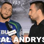 Michał Andryszak po wygranej z Michałem Kitą na KSW 39: Całkiem naturalnym wyjściem jest walka o pas [WIDEO]
