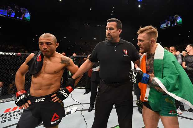Conor McGregor pokonał Jose Aldo w 13 sekund, Daily Star