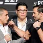 Konferencja prasowa przed UFC 221. Pierwsze spotkanie twarzą w twarz Roberta Whittakera i Luke'a Rockholda [WIDEO]