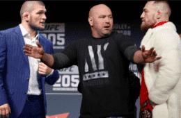 Khabib Nurmagomedov vs. Conor McGregor, fotomontaż