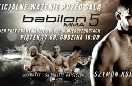 Ceremonia ważenia przed Babilon MMA 5