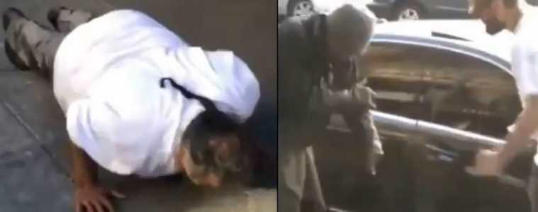 Khabib Nurmagomedov naśmiewa się z bezdomnego