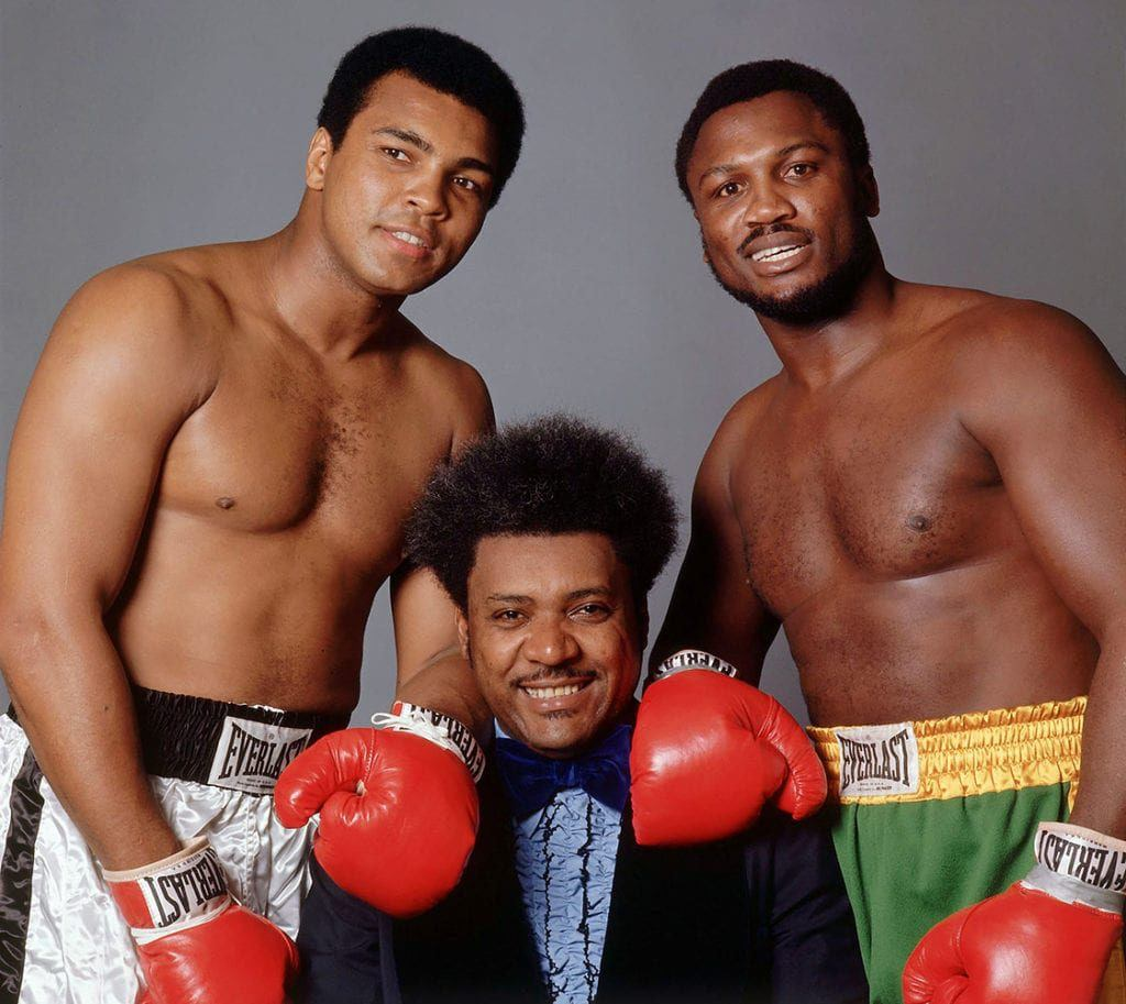 Muhammad Ali, Don King i Joe Frazier, heightline.com