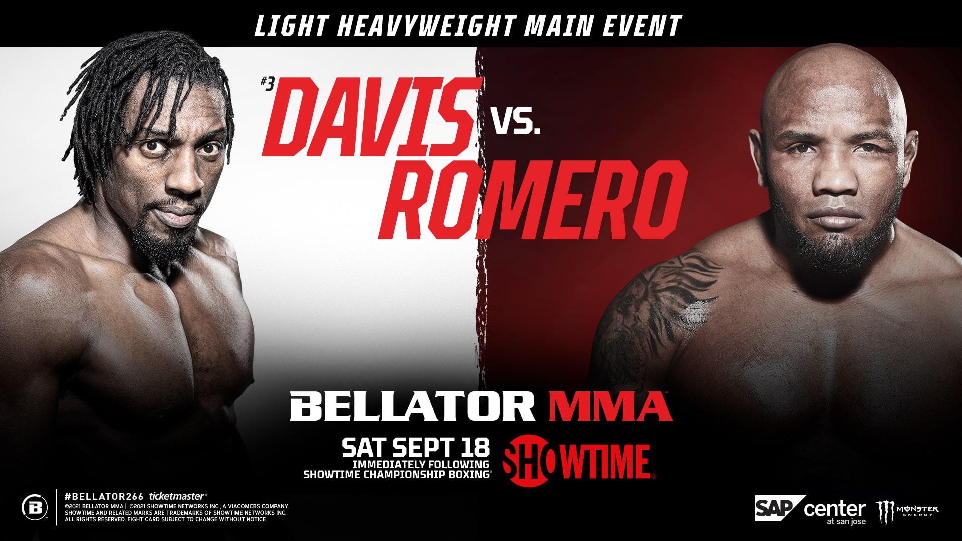 Bellator 266: Davis vs. Romero - rozpiska, transmisja, godziny rozpoczęcia  gali - MMA PL